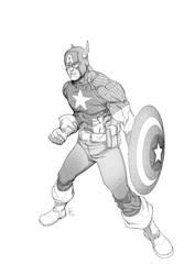 Captain America by erufan