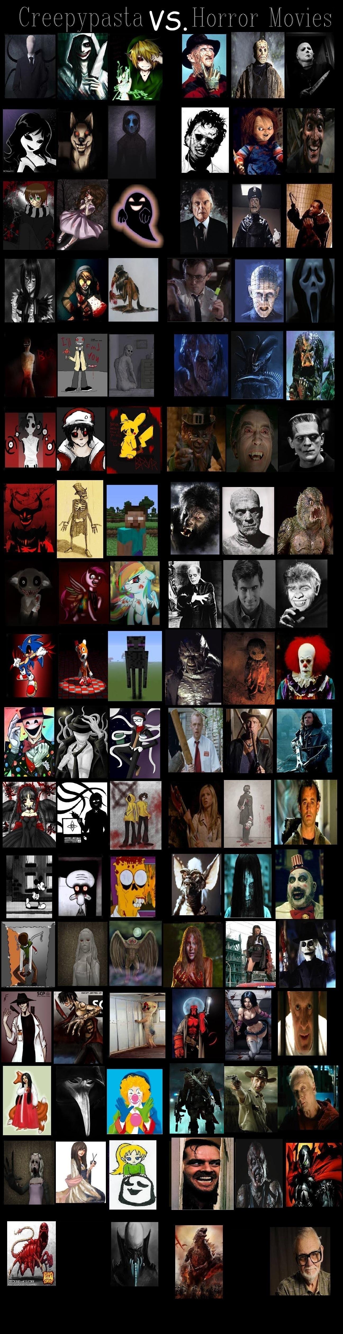 Creepypasta vs  Horror Movies: My Version by MaxGomora1247 on DeviantArt