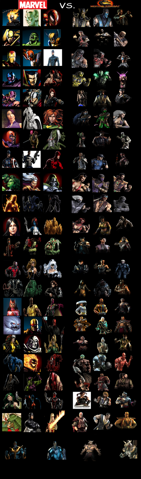Marvel vs. Mortal Kombat: My Version by MaxGomora1247 on ...