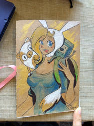 Fionna and cake by Masked-Patatoe