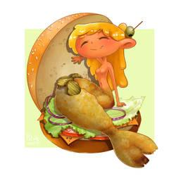 Burger mermaid