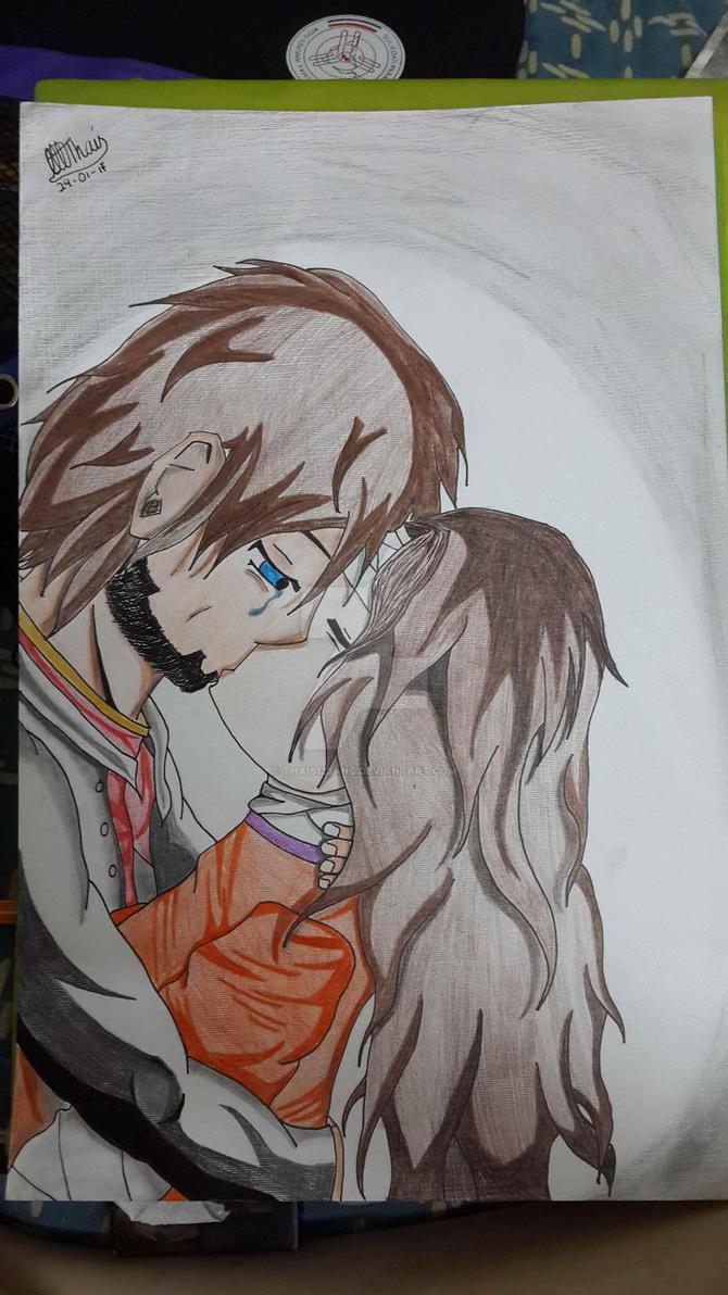 A farewell kiss... by Thais123and