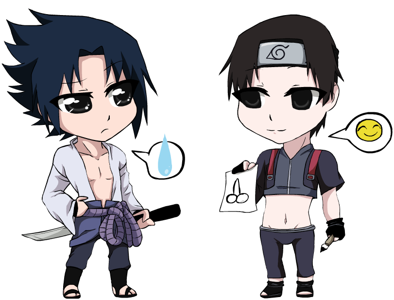 Narusai Chibi sasuke n Sai by G-Blue16