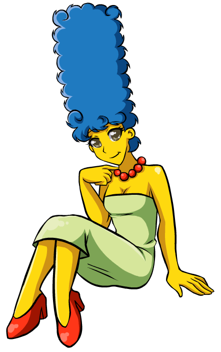 Marge simpson xD by G-Blue16