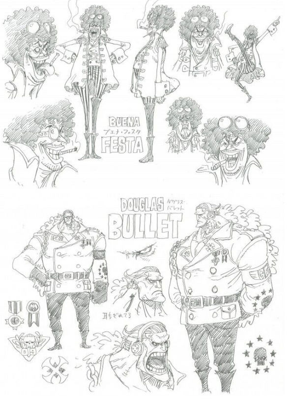 One Piece Stampede drafts of 2 characters by kawaibear7 on DeviantArt