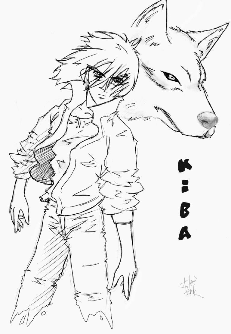 Wolfs rain -- kiba by zefoxe