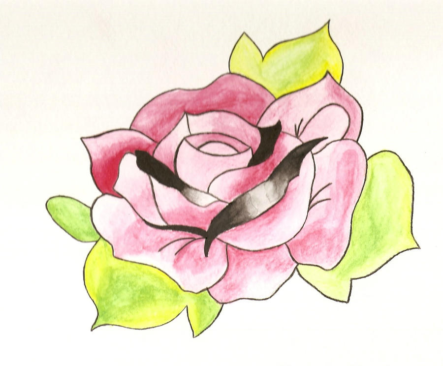 Oliver Sykes Rose Tattoo by BecaRivera on DeviantArt