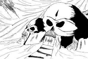 Skull castle by mentaldiversions