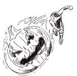 Headless pumpkin throw