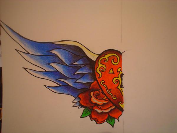 heart chest piece - chest tattoo