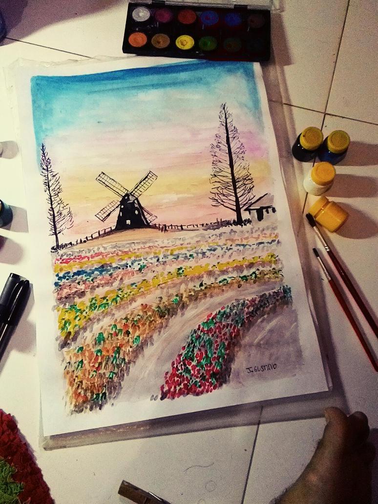 Windmill by jgustavodesenho