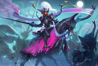 The dark knight in the garden by mad-jojo
