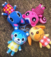 Animal crossing plushies by thebabby4