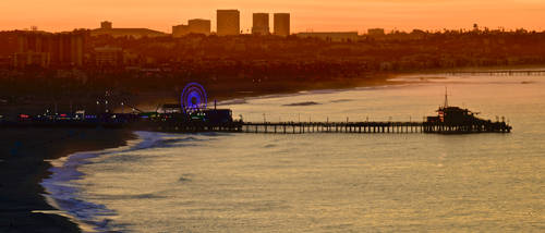 Sunrise of Santa Monica by 4umypix