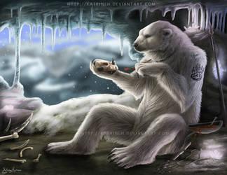 Rare 2010 calendar- Polar bear by KatrineH