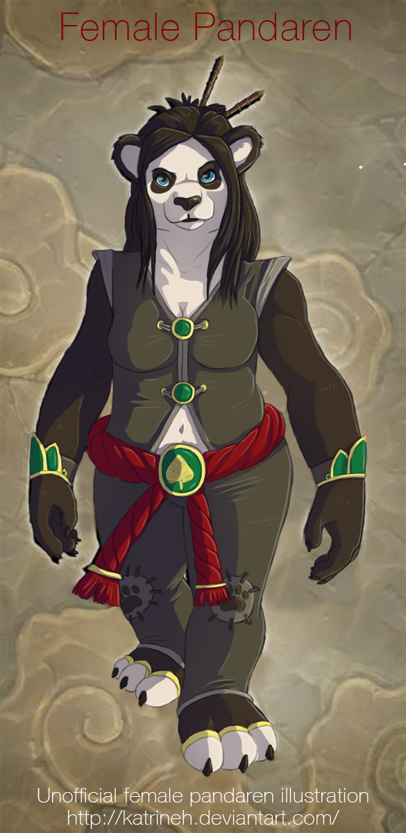Female pandaren by KatrineH