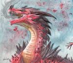 Art trade - Red dragon