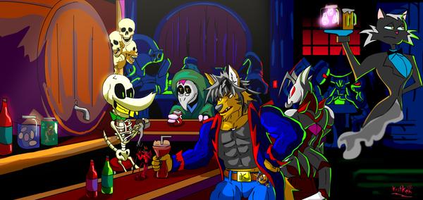 Underworld bar by kritken