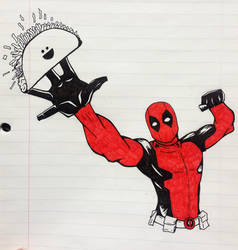 Deadpool Sketch by lolpants725