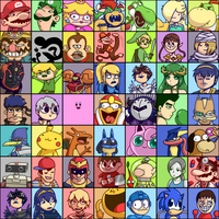 Super Smash Bros 4 Roster (SSB4) by Zerocakes