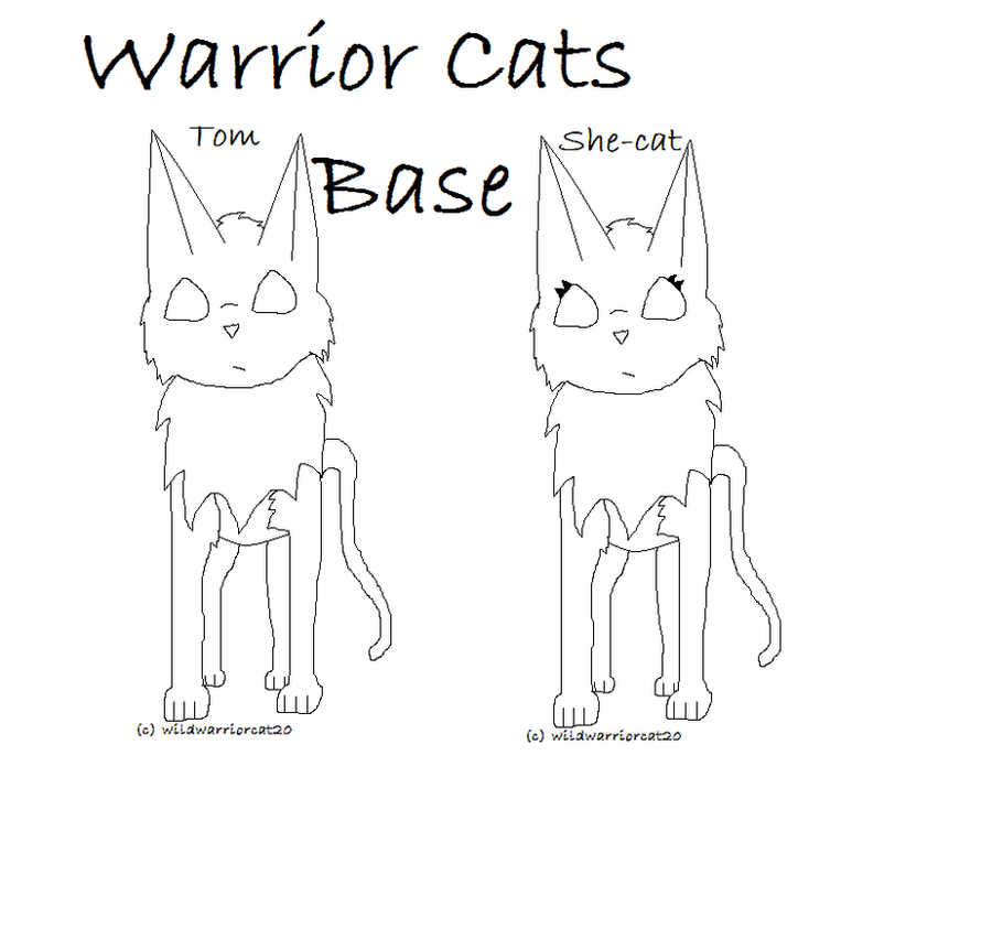 Anime Warrior Cat Base Free Warrior Cat Base by