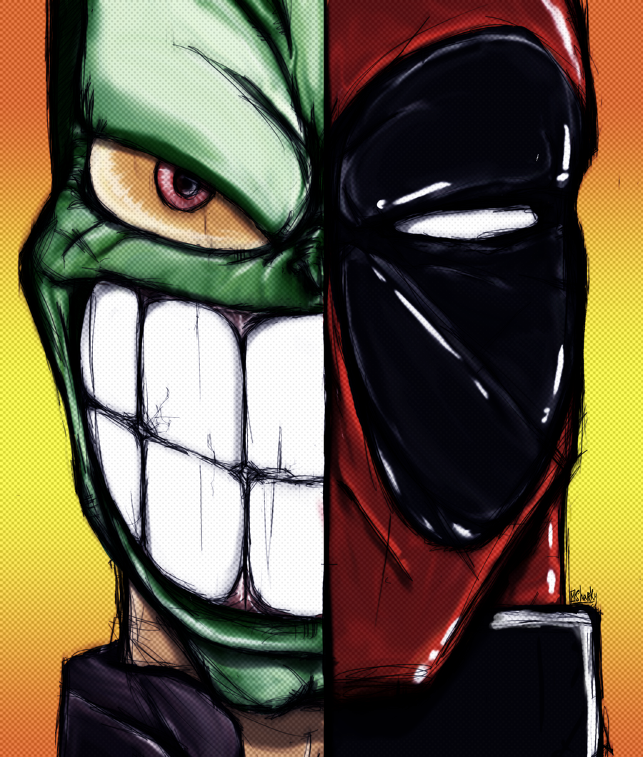 Mask vs Deadpool by KainZeroRasiel on DeviantArt