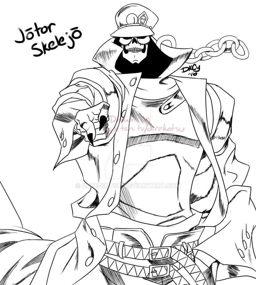 Jotor Skelejo (SkeletorxJotaro) by Dere-kotsu