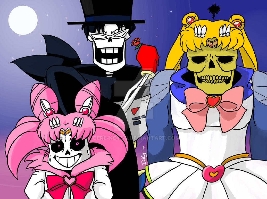 Skeletor/Sans/Papyrus x Sailor Moon [Colored] by Dere-kotsu