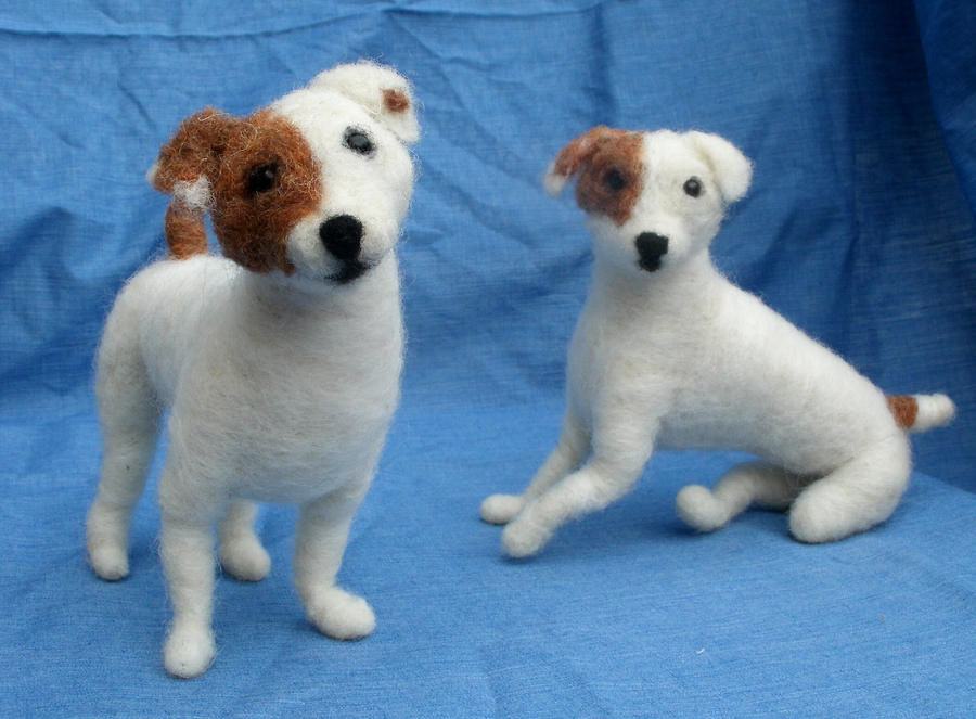 Needle Felted Dog Portrait by JessieDockins