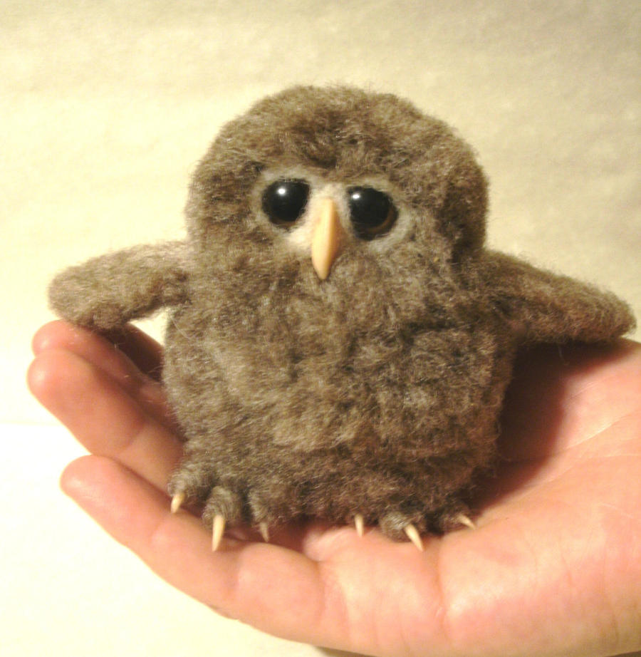 Needle Felted Owl Baby by JessieDockins