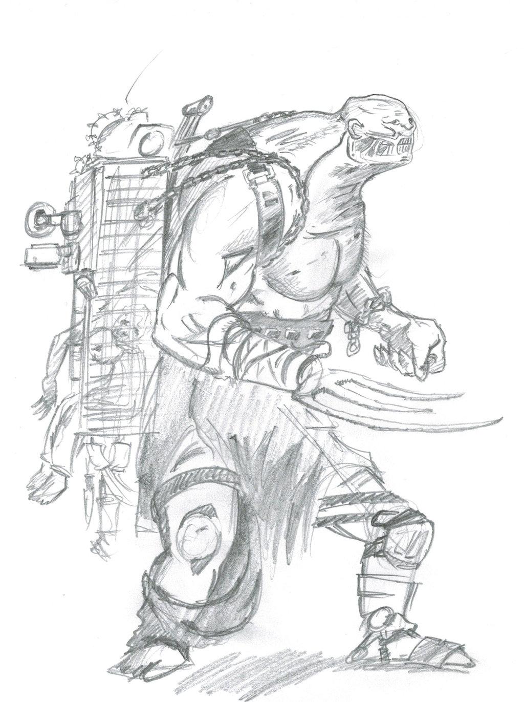 Adam Adamowicz Tribute Super Mutant by willhpacheco