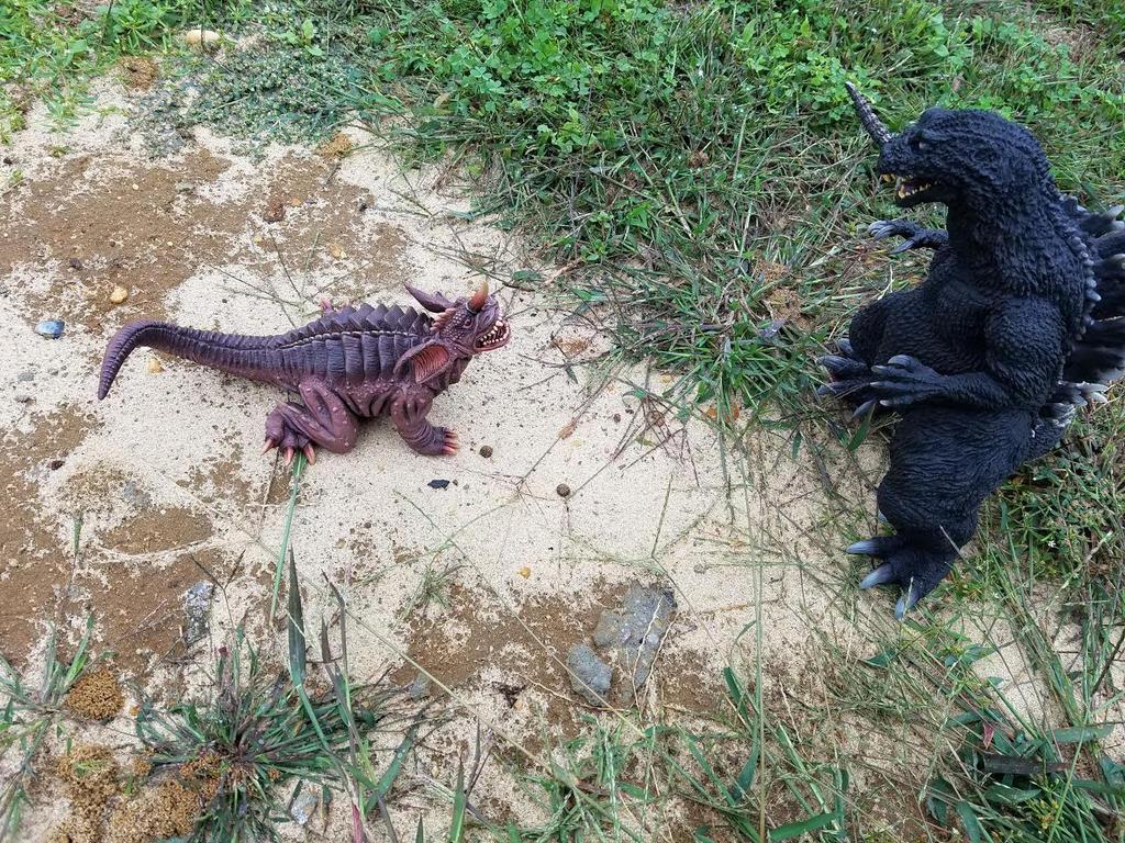 Baragon vs Godzilla by Megalon15