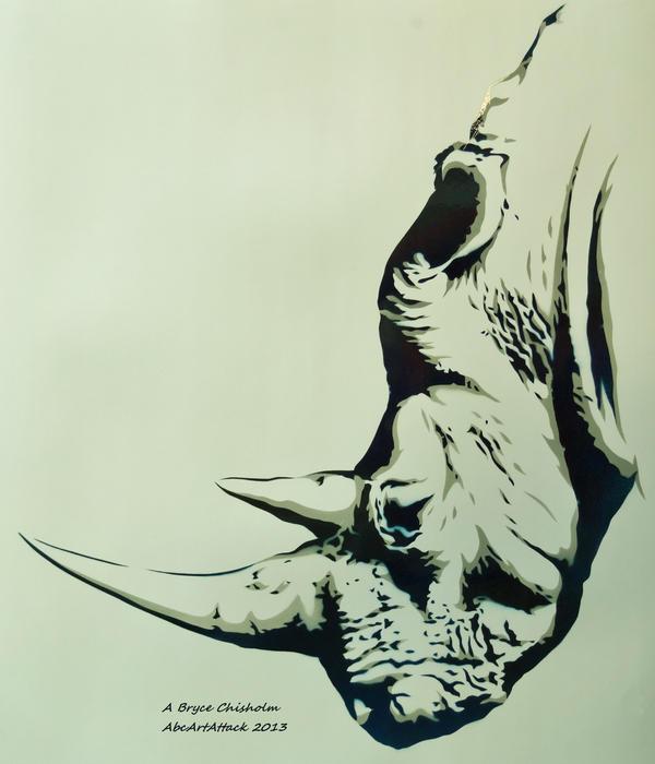 Rhino Stencil by abcartattack