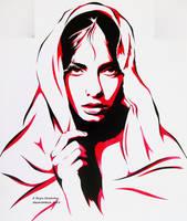Greta Tu Stencil by abcartattack