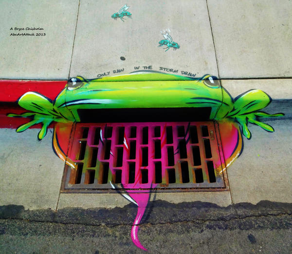 Storm Drain Frogger by abcartattack