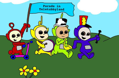 A parade in Teletubbyland  by mcdnalds2016