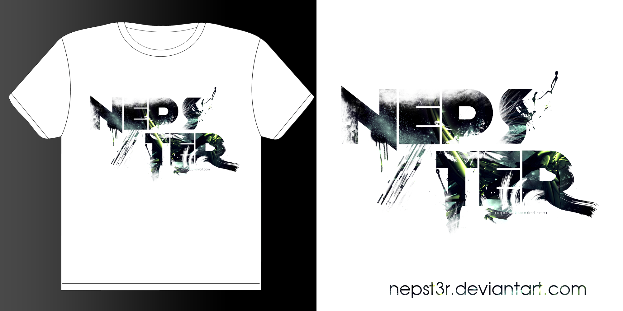 New nepster t shirt design by nepst3r on deviantart for Modern t shirt designs