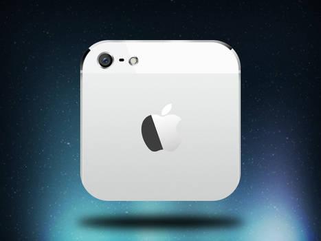 iPhone 5 iOS icon - white