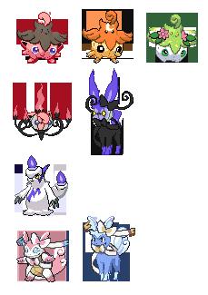 Pokemon fusions lot by Fino-chan