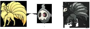 Skulltails (Ninetails + Duskull) by Fino-chan