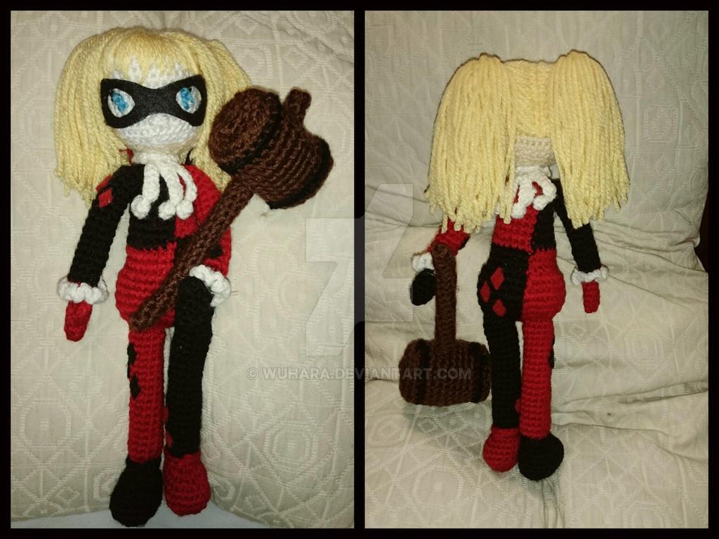 Amigurumi Harley Quinn : Harley Quinn amigurumi by WuHara on DeviantArt