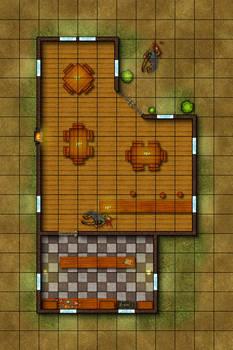 Tactical Map - The Wandering Paladin Tavern