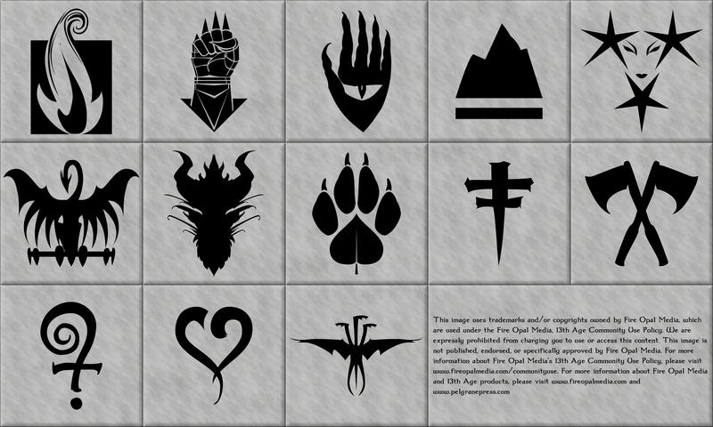 13th Age Icons in Vector Format