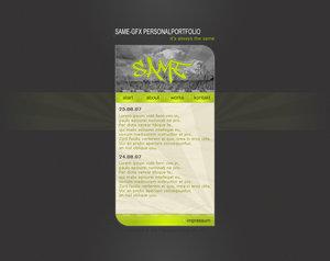 SaMe Portfolio 2.0 by theblackpixel