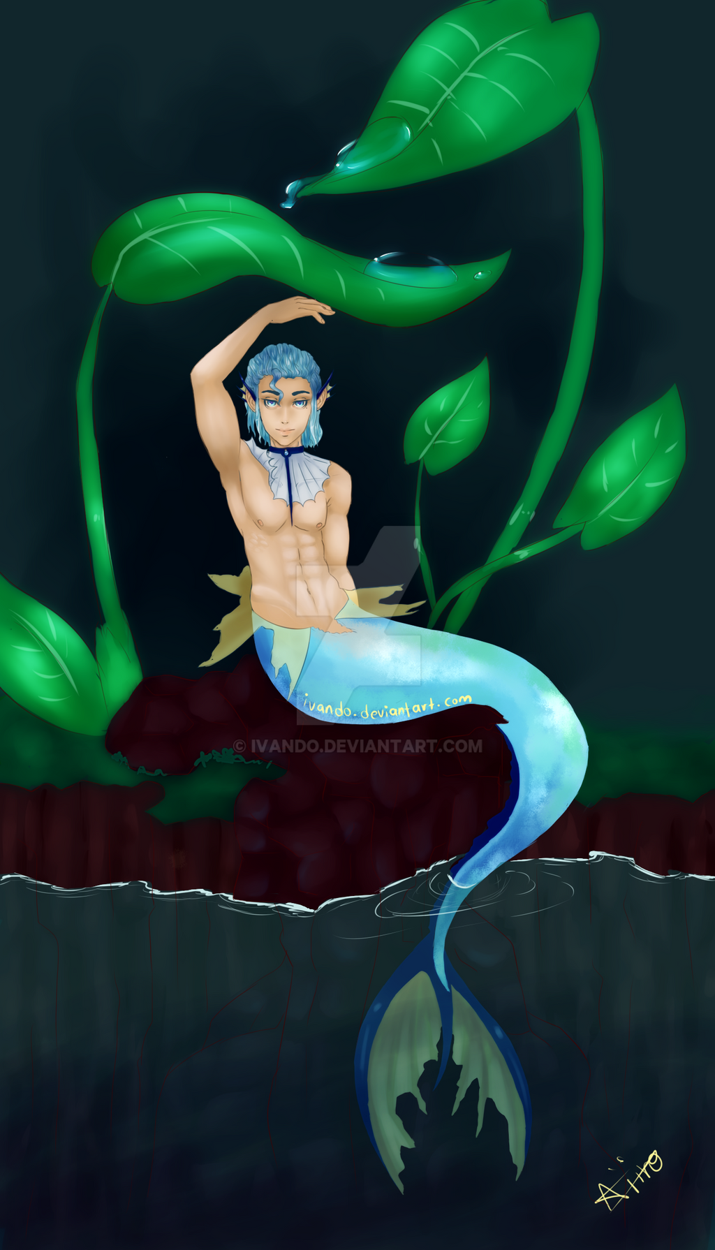 merman vaporeon by ivando