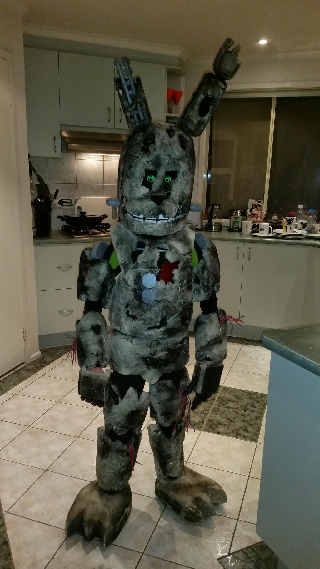springtrap fnaf cosplay for halloween 2015 by capncomic