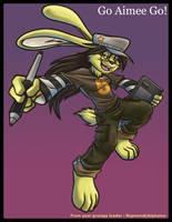 Evil bunny aimee by alphaleo14