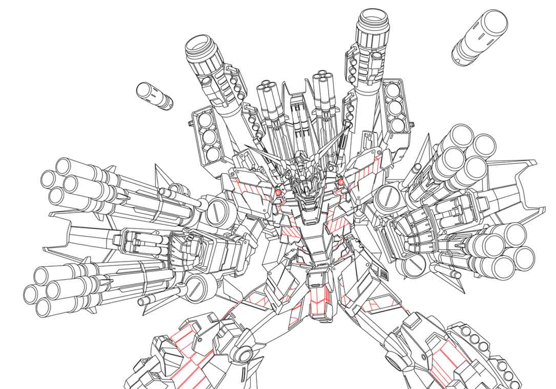 Gundam Unicorn WIP 2 by alphaleo14