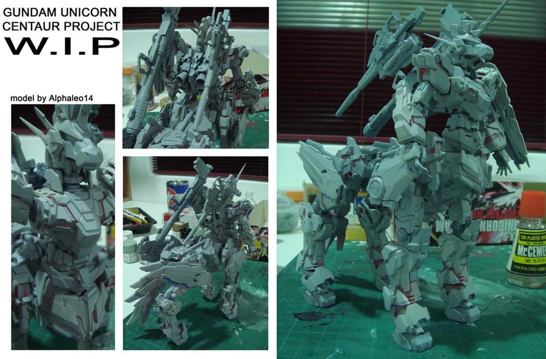 Gundam unicorn centaur WIP 4 by alphaleo14