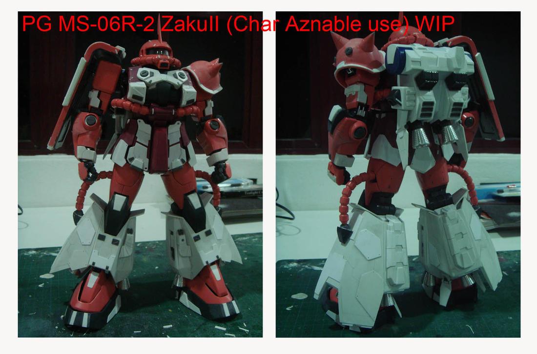 PG MS-06R-2 ZakuII WIP by alphaleo14